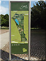 TQ3377 : Sign displaying a plan of Burgess Park by Robin Stott