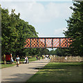 TQ3377 : Bridge over the former Surrey Canal, Burgess Park by Robin Stott
