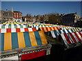 TG2208 : Norwich market roof tops by Richard Humphrey