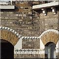TQ3377 : Brick detailing, terraced houses, Loncroft Road, Peckham by Robin Stott