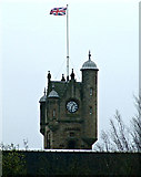 NS6161 : Rutherglen Town Hall tower by Thomas Nugent