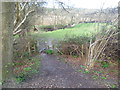 TQ4736 : The High Weald Landscape Trail seen from the former East Grinstead to Tunbridge Wells Railway by Marathon
