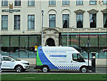 NS5965 : CCTV van on George Square by Thomas Nugent