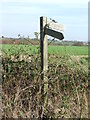 TM2741 : Footpath Sign by Keith Evans