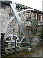 SK2168 : Steel sculpture in the yard of Old House by Humphrey Bolton