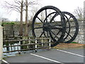 SK2168 : Water wheel, Victoria Mill by Humphrey Bolton