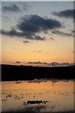 HP6312 : Sunset over Haroldswick pool by Mike Pennington