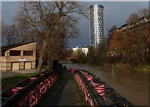 SK5803 : Footbridge along the Grand Union Canal by Mat Fascione
