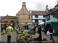 ST6316 : Sherborne: market stalls in the marketplace by Chris Downer