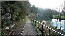 SO5074 : Riverside path along the Teme at Ludlow by Clint Mann