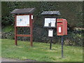 ST5911 : Beer Hackett: postbox № DT9 66 and noticeboard by Chris Downer