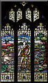 SK8736 : Stained glass window, All Saints' church, Barrowby by J.Hannan-Briggs