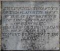 SN4006 : Foundation stone, The Old Slaughterhouse, Kidwelly by Jaggery