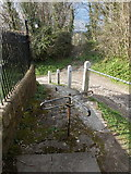 ST7807 : Ibberton: turnstile outside the church by Chris Downer