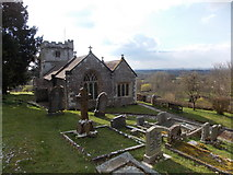 ST7807 : Ibberton: the church from the west by Chris Downer