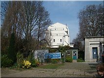 TQ3386 : View of the side of a house from the entrance to Abney Park Cemetery by Robert Lamb