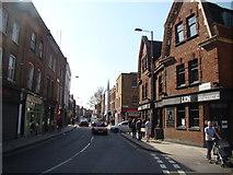 TQ3386 : View north-northwest along Stoke Newington Church Street by Robert Lamb