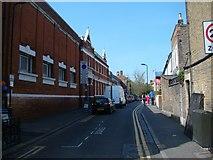TQ3386 : View up Edwards Lane from Stoke Newington Church Street by Robert Lamb