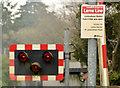 "J3584 : ""Park and ride"" sign, Jordanstown station by Albert Bridge"