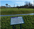 SP5798 : Information board at Glen Parva Moat land by Mat Fascione