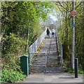 SP0568 : Footbridge over Paper Mill Drive, Church Hill, Redditch by Robin Stott