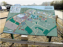 TL2668 : Map of Wood Green Animal Shelter by Adrian Cable