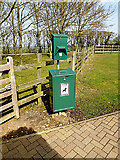 TL2668 : Fido Bin & Bag Dispenser at Wood Green Animal Shelter by Adrian Cable