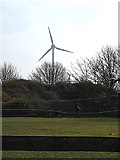 TL2668 : Wind Turbine at Wood Green Animal Shelter by Adrian Cable