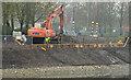 J3371 : Revetment works, River Lagan, Belfast - April 2014(2) by Albert Bridge