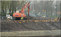 J3371 : Revetment works, River Lagan, Belfast - April 2014(2) by Albert Bridge