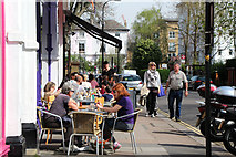 TQ2784 : Enjoying lunch on England's Lane, Belsize Park by Kate Jewell