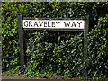 TL2866 : Graveley Way sign by Adrian Cable