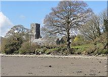 SX1156 : St Winnow's Church on the Bank of the Fowey Estuary by Tony Atkin