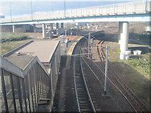 NS6161 : Rutherglen railway station, Glasgow by Nigel Thompson