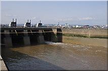 ST1972 : Cardiff : Cardiff Bay Barrage by Lewis Clarke