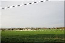 TR1236 : Folkestone Racecourse from the A20 by Stuart Logan