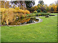 TM1846 : Pond at the Millennium Cemetery by Adrian Cable