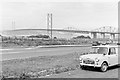 NT1278 : Forth Bridges from Bo'ness Road lay-by, 1965 by Robin Webster