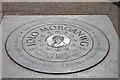 TQ2783 : Commemorative plaque on Primrose Hill by Kate Jewell