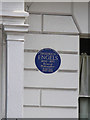TQ2784 : Commemorative plaque, 122 Regent's Park Road by Kate Jewell
