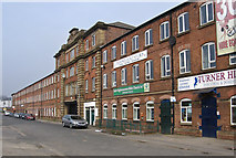 SK4293 : Rotherham - Thames Street works (from SE) by Dave Bevis