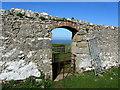 SH6281 : Wall Gap by Pentir Cottage by Chris Heaton