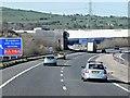 SD6924 : Railway Bridge over Westbound M65 by David Dixon