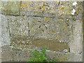 SK7243 : Bench mark, St. Wilfrid's Church by Alan Murray-Rust