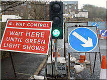 NT4836 : A traffic light control at Galashiels by Walter Baxter