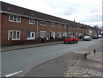 ST2896 : Long row of houses, Bryn Celyn Road, Cwmbran by Jaggery