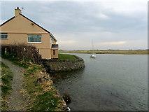 SH3568 : Isle of Anglesey Coastal Path beside the Afon Ffraw by Chris Heaton