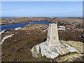 NM2359 : Trig point east of Loch Fada by William Starkey