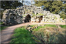 SO8744 : Grotto, Croome Park by Philip Halling
