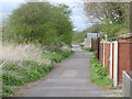 SK7939 : Lane along the old railway line by Alan Murray-Rust